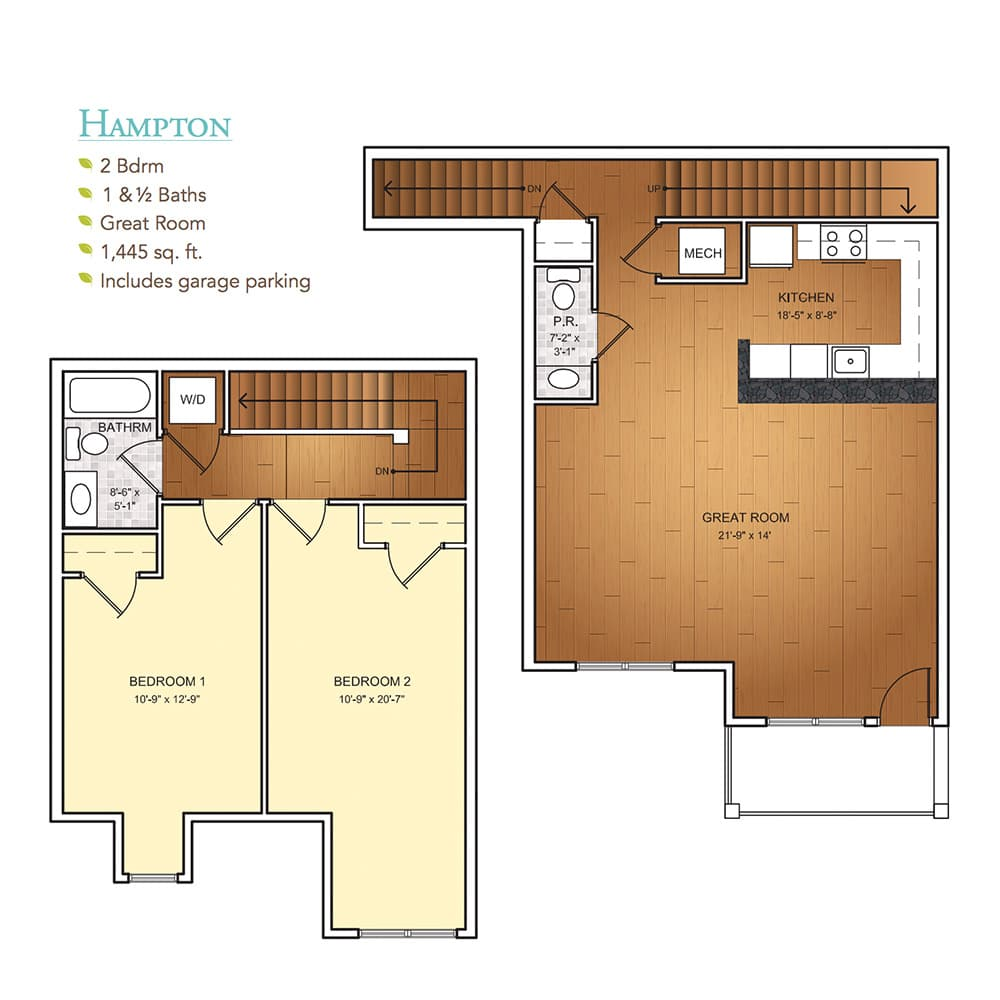 Burgess Mill 1 Hampton Floor Plan