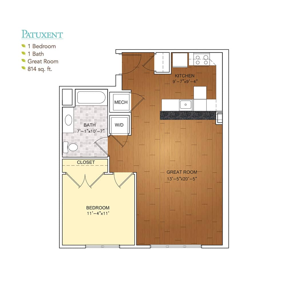 Burgess Mill 1 Patuxent Floor Plan