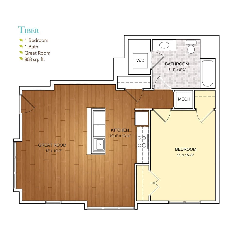 Burgess Mill 1 Tiber Floor Plan