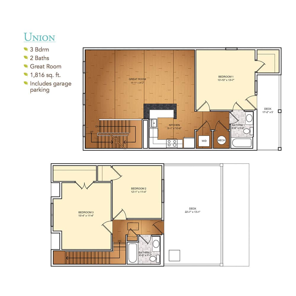Burgess Mill 1 Union Floor Plan