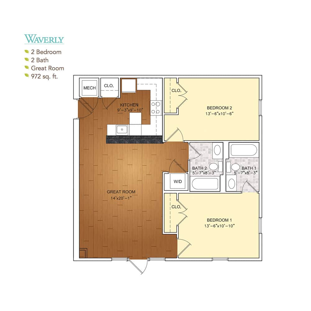 Burgess Mill 1 Waverly Floor Plan