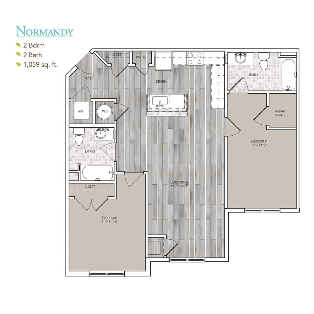 Burgess Mill 2 Normandy Floor Plan
